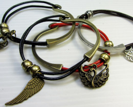 PARCEL DEAL FOUR LEATHER/BRONZE BRACELETS QT 519