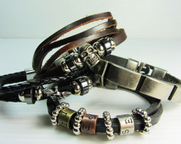 PARCEL DEAL FOUR LEATHER BRACELETS QT 514