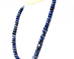 Blue Sodalite Round Beads Necklace