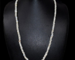 Blue Flash Moonstone Faceted Beads Necklace