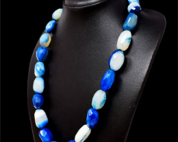 Blue Onyx Faceted Beads Necklace