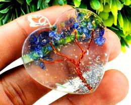 Lapis Lazuli Orgone Heart Pendant