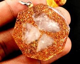 Rose Quartz Orgone Pendant