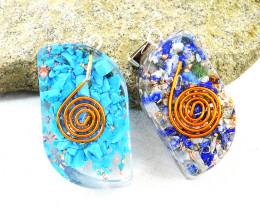 Lapis Lazuli & Onyx Orgone Pendant