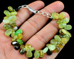 Green Tourmaline Beads Bracelet