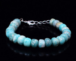 Genuine 185.00 Cts Amazonite Beads Bracelet