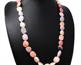 Pink Australian Opal Beads Necklace