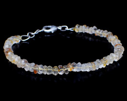 Faceted Rutile Quartz Beads Bracelet