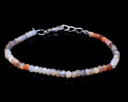 Multicolor Moonstone Faceted Beads Bracelet