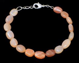 Genuine 75.00 Cts Multicolor Moonstone Beads Braceket
