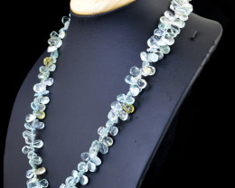 Blue Aquamarine Beads Necklace