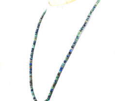 Faceted Azurite Beads Necklace - 20 Inches Long