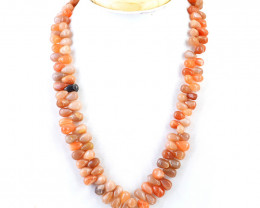 Genuine 437.00 Cts Multicolor Moonstone Beads necklace