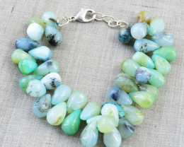 Blue Peruvian Opal Beads Bracelet