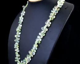 Exclusive Phrenite Beads Necklace
