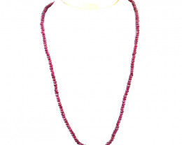 Red garnet Round Faceted Beads Necklace