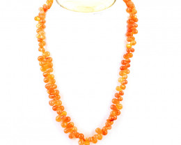 Orange Carnelian Beads Necklace