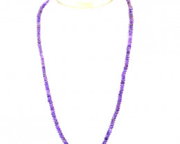 Purple Amethyst Faceted Beads Necklace