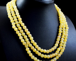 Ave[nturine 3 Line Beads Necklace