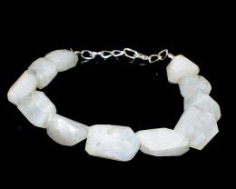 Faceted Moonstone Beads Bracelet