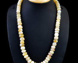 Agate Beads 20 Inches Long Necklace