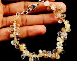 Golden Rutile Quartz Beads Bracelet