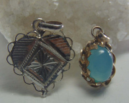 Agate pendent ~ antique stone~ fantasy silver designs