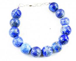 Blue Lapis Lazuli Beads Bracelet - Hand Made