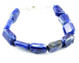 Blue Sodalite Faceted Beads Bracelet
