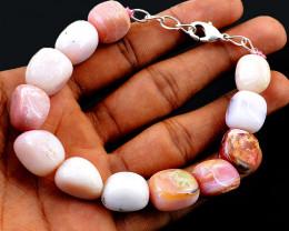 Pink Australian Opal Tumble Beads Bracelet