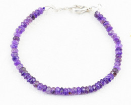Faceted Purple Amethyst Beads Bracelet