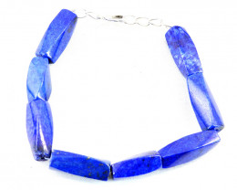 Blue Lapis Lazuli Faceted Beads Bracelet