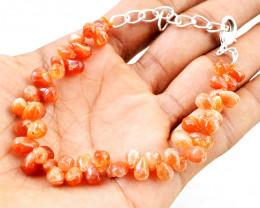 Sunstone Pear Shape Beads Bracelet