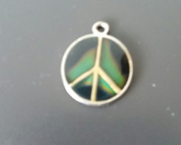 ANTIQUE VINTAGE MOOD NECKLACE PEACE SIGN PENDANT AWESOME