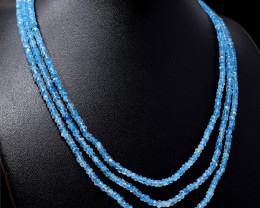 Blue Aquamarine Faceted Beads Necklace