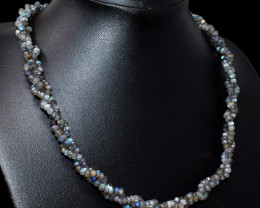 Amazing Flash Labradorite Faceted Beads Necklace