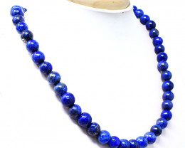 Blue Lapis Lazuli Round Beads Necklace