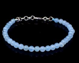 Blue Chalcedony Beads Bracelet