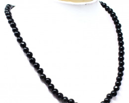 Genuine 138.00 Cts Black Spinel Beads Necklace
