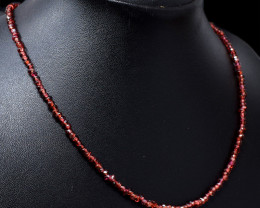 Faceted Red Garnet Beads Necklace