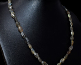 Amazing Flash Labradorite Oval Shape Faceted Beads Necklace