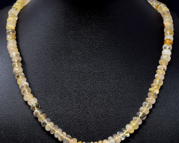 Golden Rutile Quartz Round Beads necklace