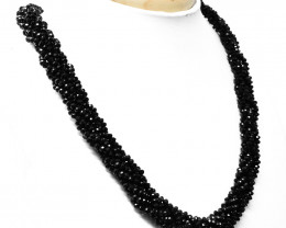 Black Spinel Faceted Beads Necklace