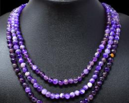 Purple Amethyst Beads Necklace - Designer