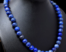 Blue Lapis Lazuli Beads 20 Inches Long Necklace