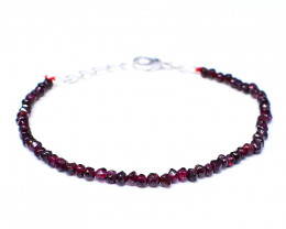 Red Garnet Faceted Beads Barcelet