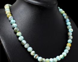 Blue Peruvian Opal Beads Necklace