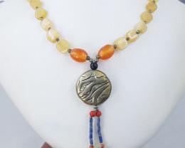 Natural Jade Citrine Necklace