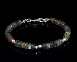 Amazing Flash Labradorite Round Beads Bracelet