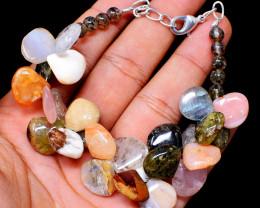 Mix Gemstone & Rutile Quartz Beads Bracelet